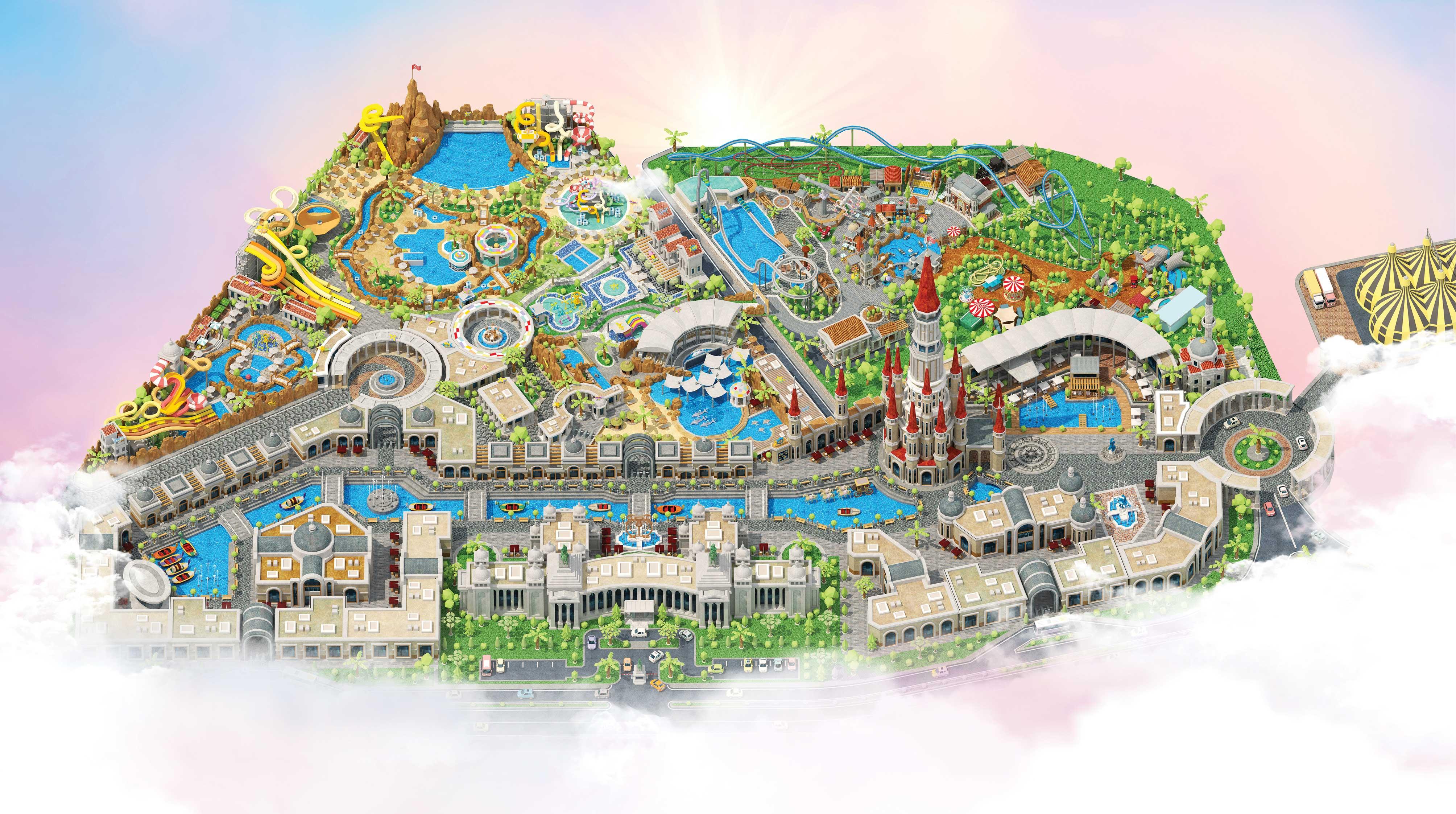 Themenpark Landkarte